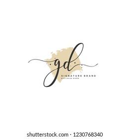G D GD Initial logo template vector
