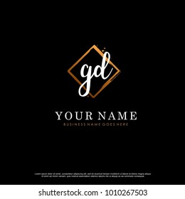 G D Initial abstract logo template vector