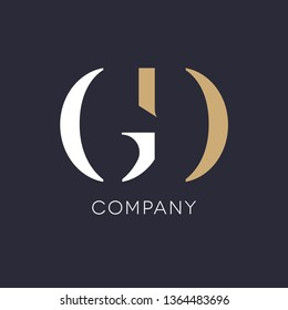 G D logo template for company
