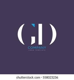 G D logo, vector template