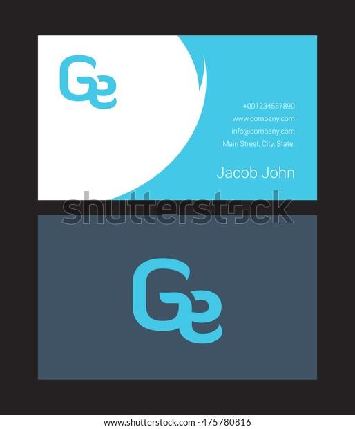 G E Letter Logo Design Business Stock Vector Royalty Free