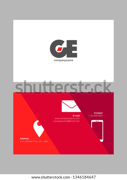 G E Letters Joint Logo Icon Stock Vector Royalty Free