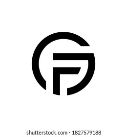 g f gf fg initial logo design vector graphic idea creative