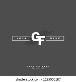 G F GF Initial logo template vector