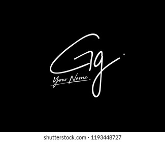 G G GG Signature initial logo template vector