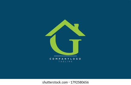 G house home real estate abstract initials monogram letter text alphabet logo design