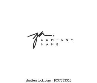 G A Initial handwriting logo