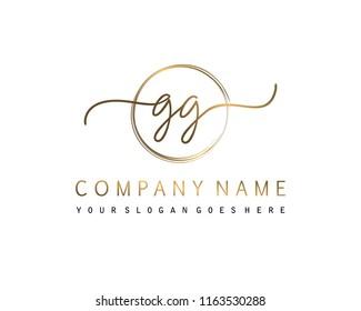 G G Initial handwriting logo vector