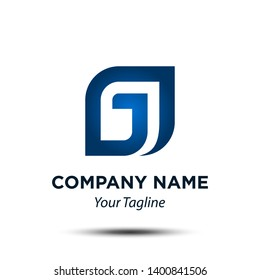 G J Initial Letter Icon Vector Logo Template