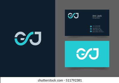 G & J  Letter logo with Business card template