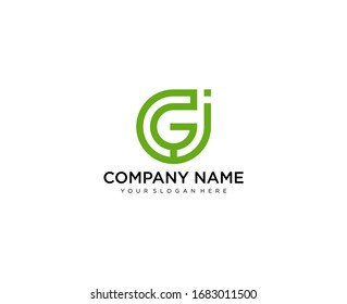 g and j logo for company