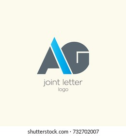 A G joint letter logo design template