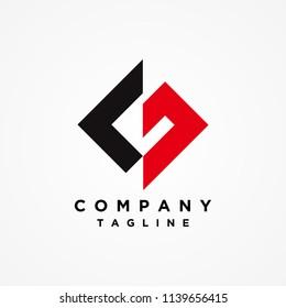 G L Logo, LG Logo design vector