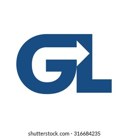 g and l logo vector