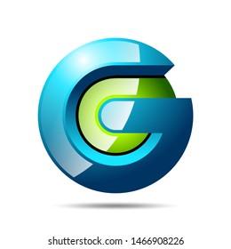 G Letter 3D Logo Design Template
