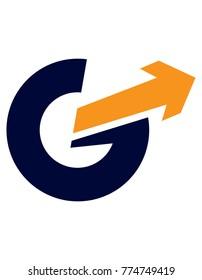 g letter arrow logo