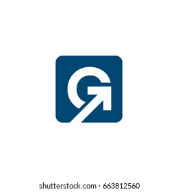 G Letter Arrow Logo Template