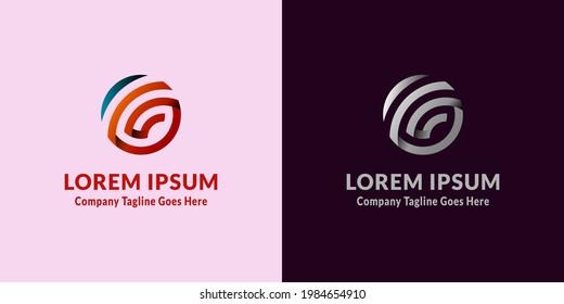 G Letter Global Logo template on white background. vector Logo Design Template illustration. Flat design