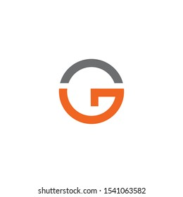 G letter initial icon logo design vector template