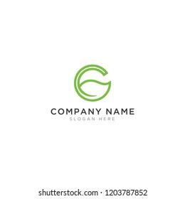 G letter with leaf Logo Template Design Vector, Emblem, Design Concept, Creative Symbol, Icon