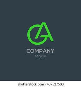 G & A Letter logo, with Business card