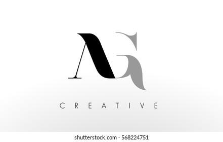 A G Letter Logo Design. Creative Modern AG Letters Icon Illustration.