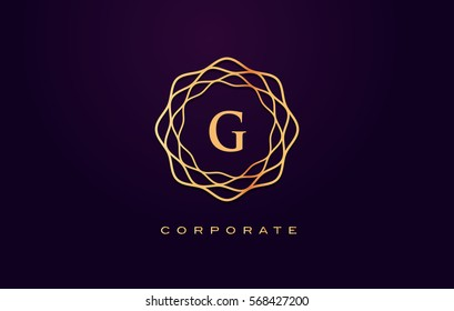 g Letter Logo. Gold Letter Design Vector with Golden Luxury Colors and Monogram Design.