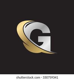 G letter swoosh golden logo