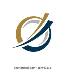 G Letter Swoosh Logo Template