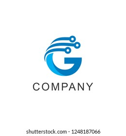 G letter and technology logo template