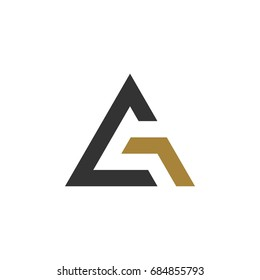 G A Letter Triangle Logo Template