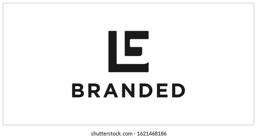 g, lg or gl negative space logo design template