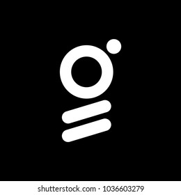 G logo abstract isolated in black.