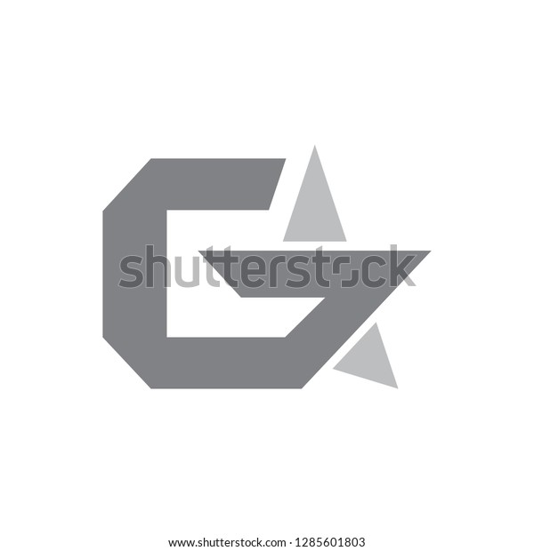 Vector de stock (libre de regalías) sobre G Logo Star Icon