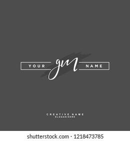 G M GM Initial logo template vector