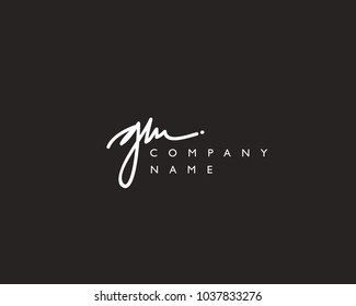 G M Initial handwriting logo
