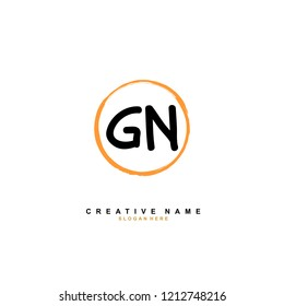 G N GN Initial abstract logo concept vector