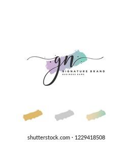 G N GN Initial logo template vector