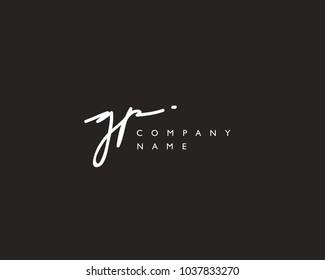 G P Initial handwriting logo