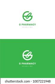 G pharmacy logo template.