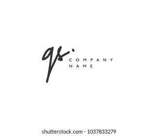 G S Initial handwriting logo