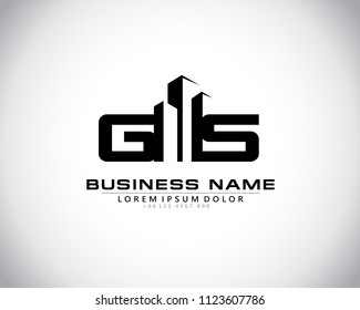G S Initial logo concept with building template vector.