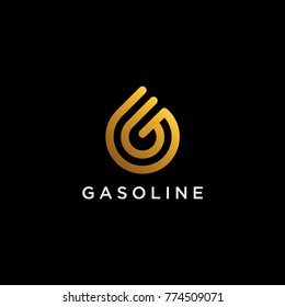 G symbol looks like a water drop. Good to be used on Oil or Gas Company and or other luxury company like real estate and financing.