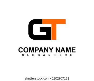 G T Initial logo template vector