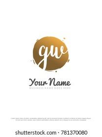 G & W initial splash logo template vector - Shutterstock ID 781370080