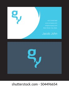 G & Y Letter logo, with Business card