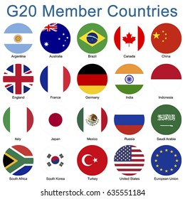 G20 Member Country Flags