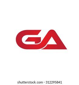 GA company linked letter logo