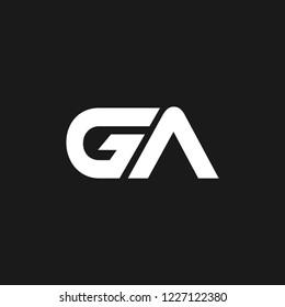 GA or G A letter alphabet logo design in vector format.