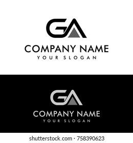 GA initial letters elegant logo, Modern Logo Design